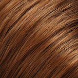 27T33B - Med Red-Gold Blonde & Med Red Blend w/ Med Natural Red Tips - Salon Color Levels: 8RG/6NR