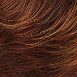 32BF - Med Natural Red Base w/ Med Red-Gold Blonde Tips, Dk/Med Red Nape - Salon Color Levels: 6NR/7RG/5R