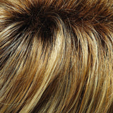 12FS8 - Shaded Praline  - Lt Gold Brown, Lt Natural Gold Blonde & Pale Natural Gold-Blonde Blend, Shaded w/ Med Brown - Natural Color Levels: 8G/9G/12NA/5N