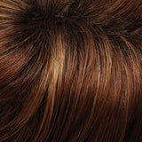 30A27S4 - Shaded Peach :: Med Natural Red & Med Red-Gold Blonde Blend, Shaded w/ Dk Brown - Salon Color Levels: 6NR/8RG/3N