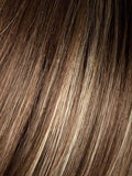 LIGHT-BERNSTEIN-ROOTED (12.20.27) - Light Auburn, Light Honey Blonde, and Light Reddish Brown blend and Dark Roots