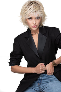 Color Shown - Gold Blonde Platinum Highlights Rooted Golden Brown