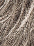 STONEGREY-ROOTED (56.60.58) - Brown-75% gray mixed w/ pure white and Lt Chestnut Brown-25%gray w/ Root