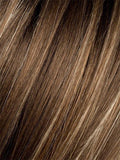 TOBACCO-ROOTED (12.26.27.8) - Medium Brown base with Light Golden Blonde highlights and Light Auburn lowlights and Dark Roots