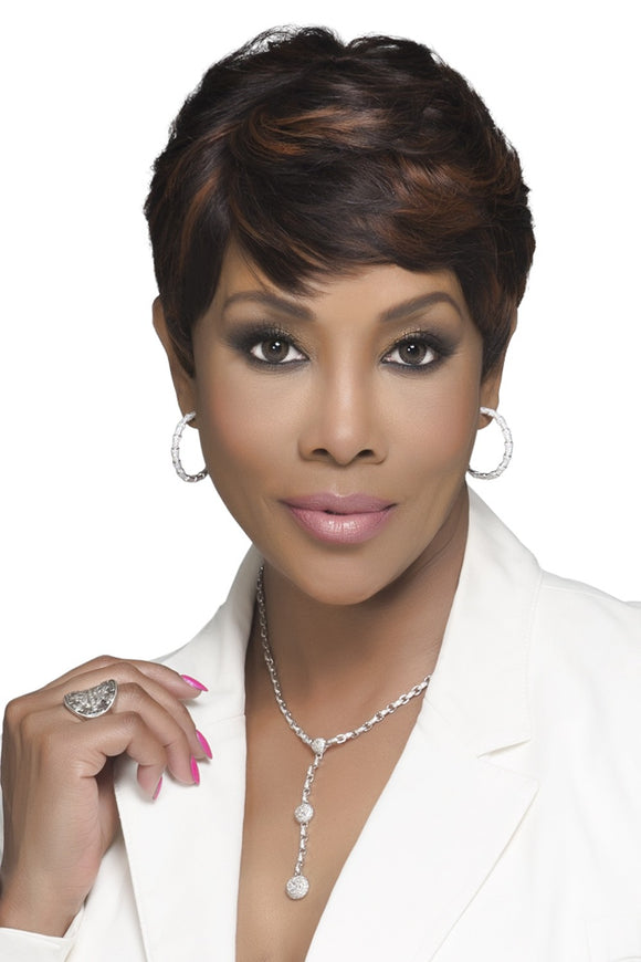 H302-V by Vivica A. Fox - Stretch Cap Human Hair Wig