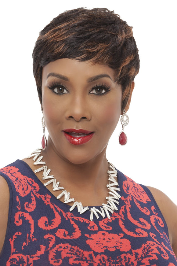 HH-CARITA by Vivica A. Fox - Stretch Cap Human Hair Wig