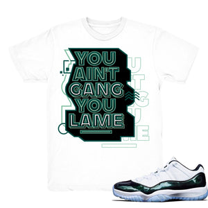 6d6064825730 ... Jordan 11 Low Easter Shirts Retro 11 Lows Emerald Sneaker Match Tees ...