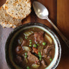 Irish Beef & Stout Stew with Cheddar Nigella Bread