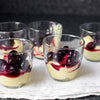 Vanilla Custards with Roasted Blueberries