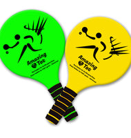 Amazing Tot Paddle Ball Game Racket Set - 2 rackets, 2 balls, 4 feathers and Frisbee for Indoor Outdoor games