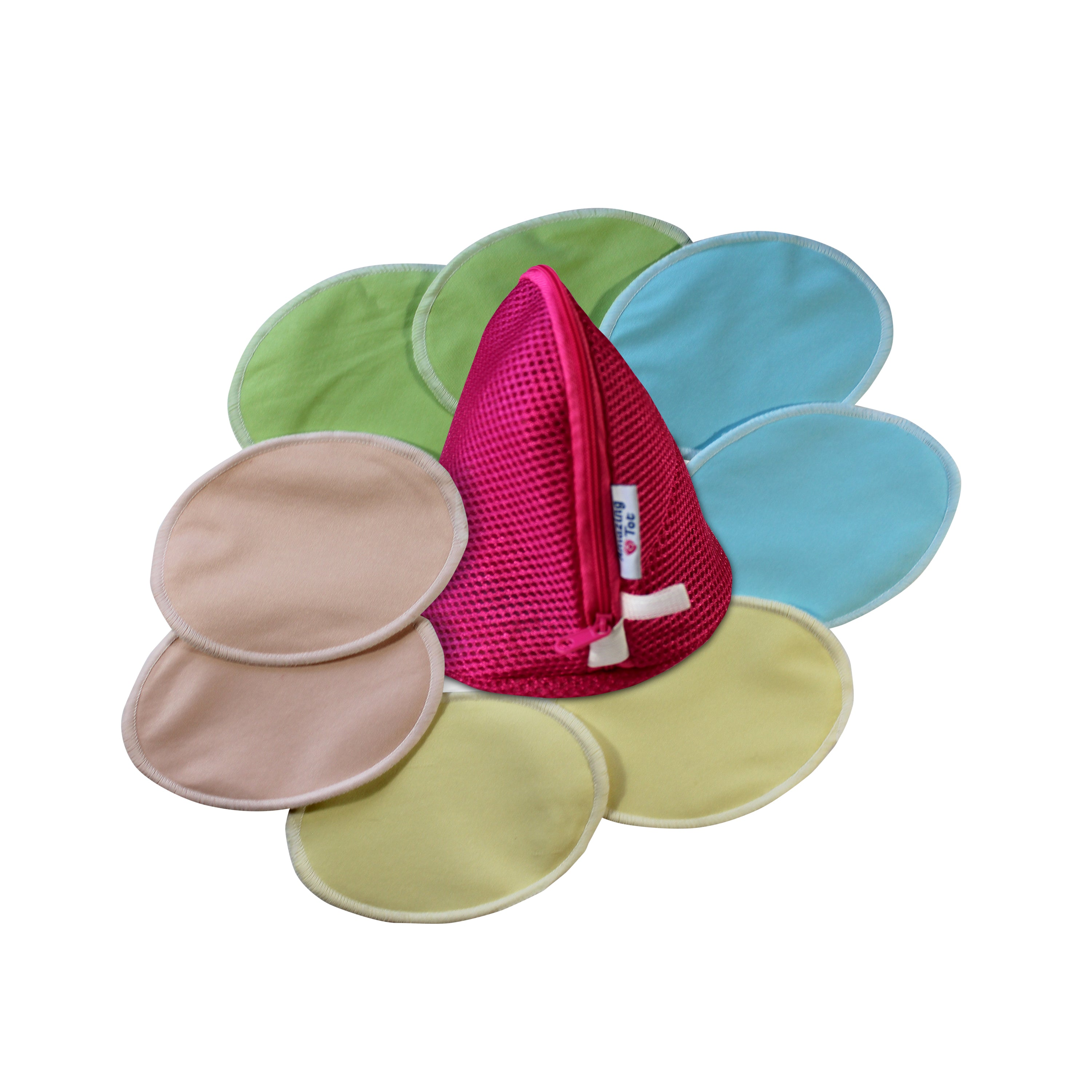 Reusable Organic Bamboo Breast Nursing Pads Washable Waterproof Ultra Soft 8pcs
