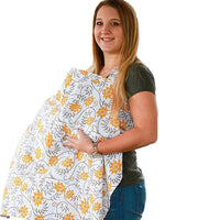 Cotton Privacy Breastfeeding Cover Nursing Cover Ups for Baby Feeding