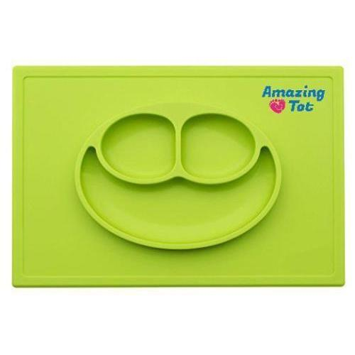 Silicone Placemat Plate Feeding Food Tray For Baby Kids