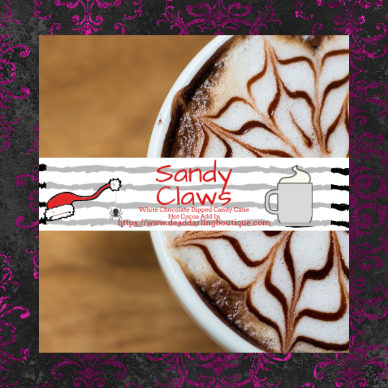 Sandy Claws - White Chocolate Candy Cane Hot Cocoa Add In
