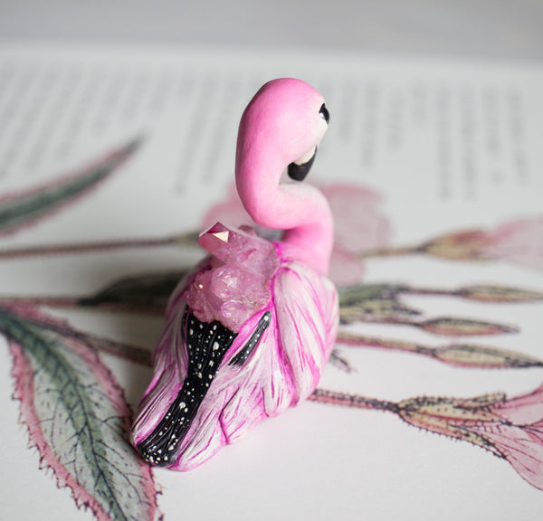 Pink Flamingo Figurine