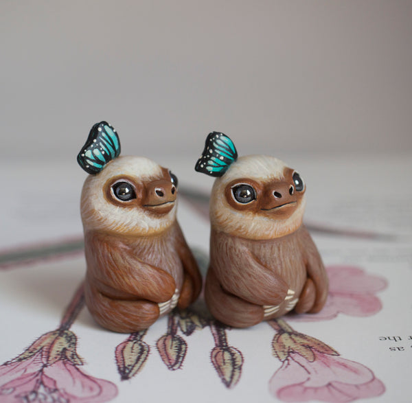 Two Toed Sloth Figurine