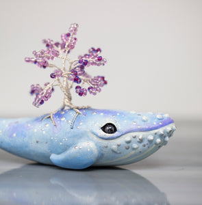 Blue Whale Tree Figurine