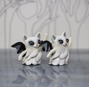 Bat Cat Ghost Figurine