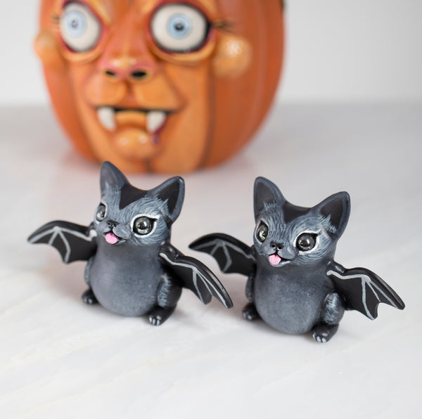 Cat Bat Figurine