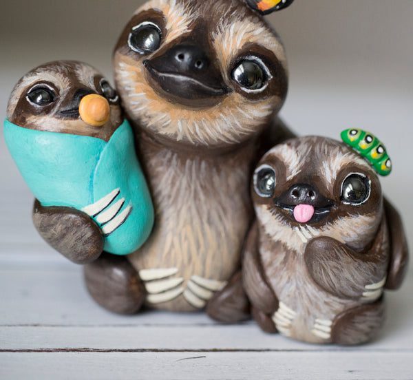 RESERVED Sloth Figurine