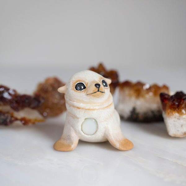 White Seal Pup Figurine