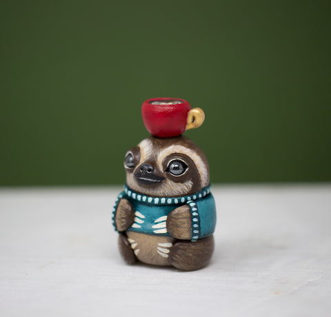 Latte Sloth Figurine