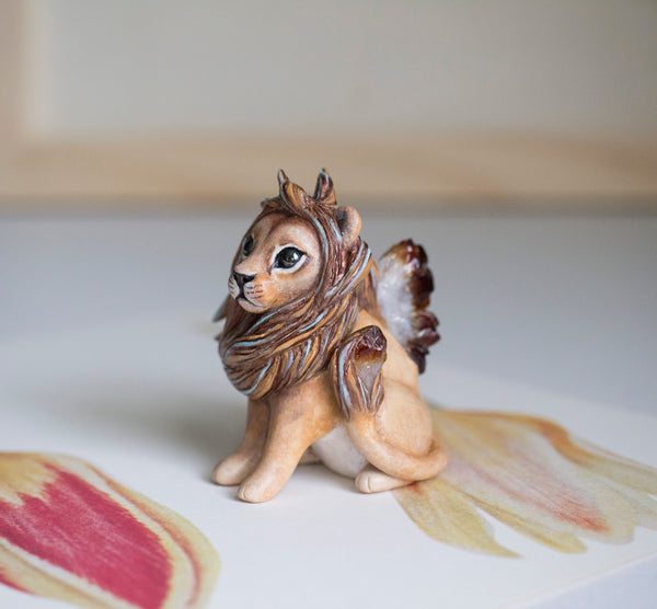 Citrine Lion Figurine