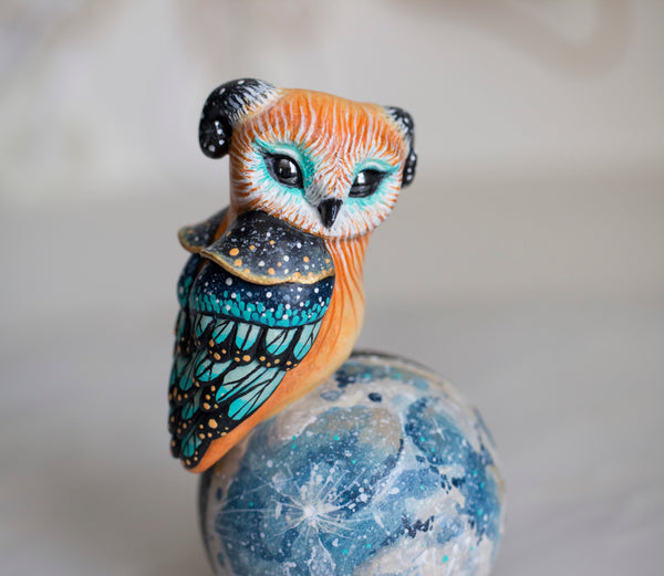 Perched Owl Figurine