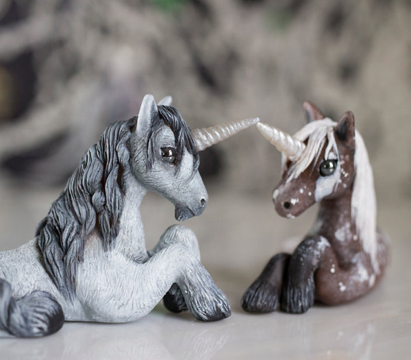 Grey Unicorn Figurine