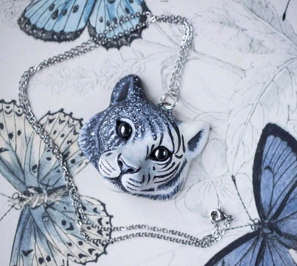 Black and White Tiger Necklace