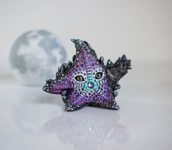 Cosmic Crystal Starfish Figurine