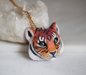 Garnet Tiger Necklace