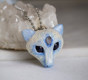 Blue Crystal Bat Necklace