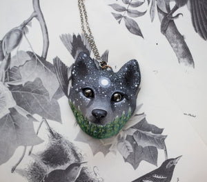 Night Forest Wolf Necklace