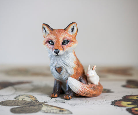 Sunstone Fox Figurine