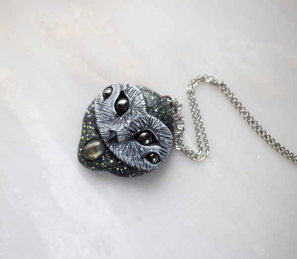Labradorite Fantasy Owl Necklace