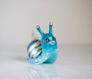 Gold Snail Figurine