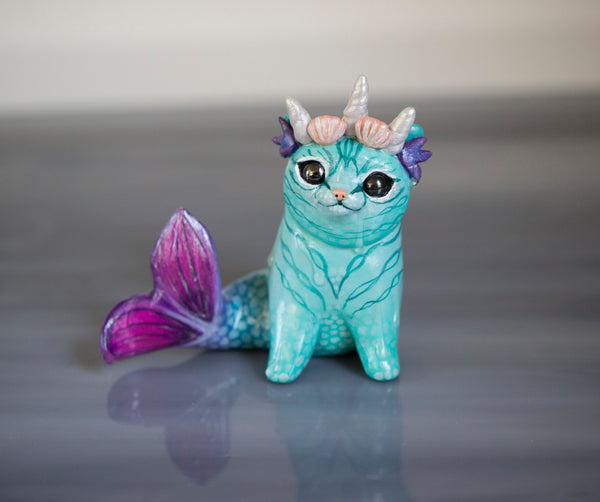Queen Purrrmaid Figurine