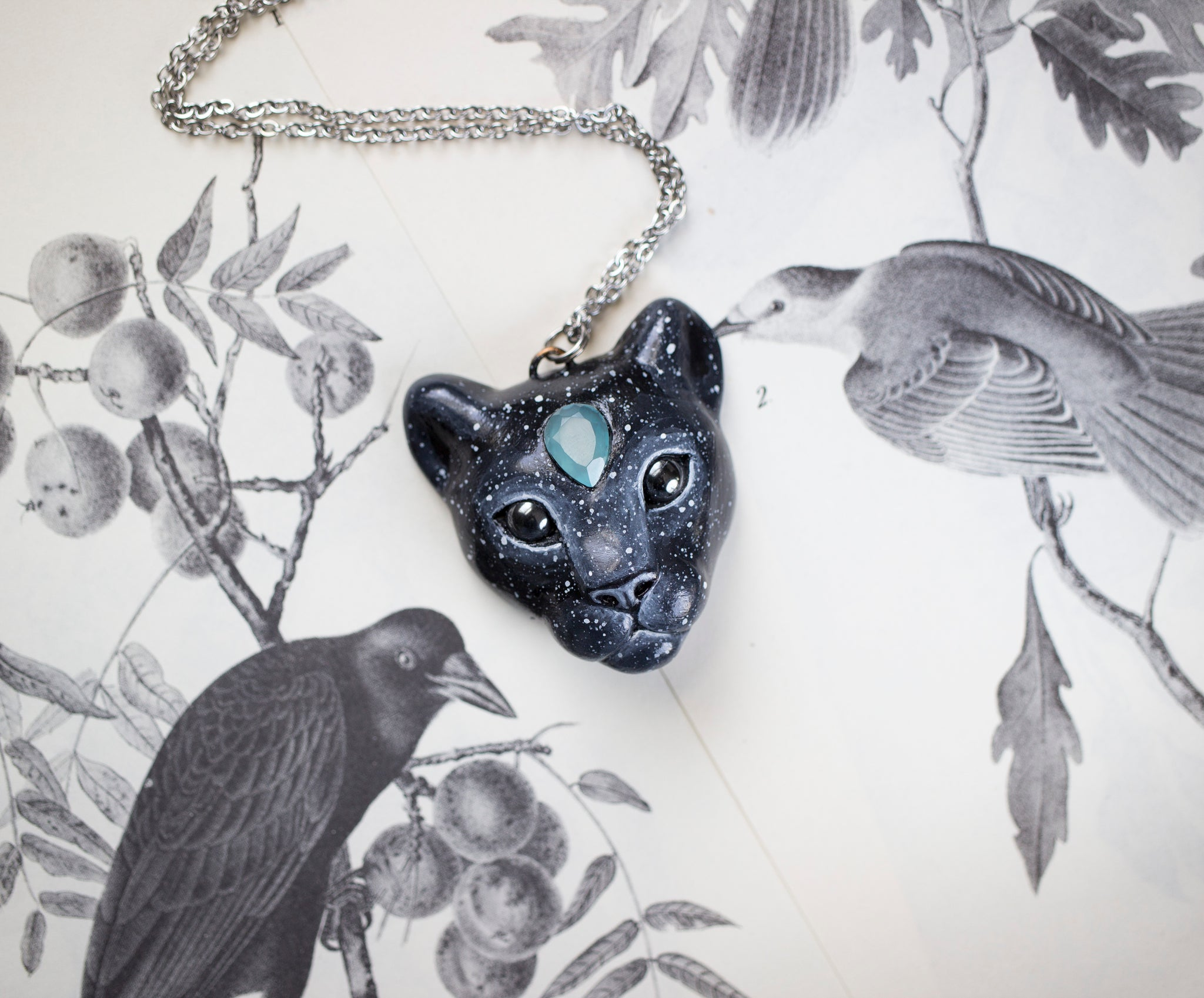 Starry Panther Necklace
