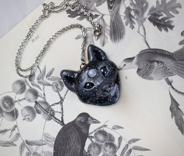 Starry Wolf Necklace