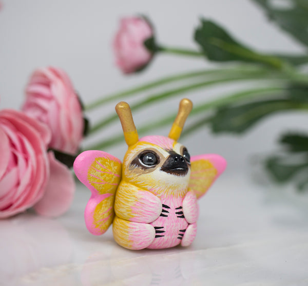 Rosy Maple Sloth Moth Figurine