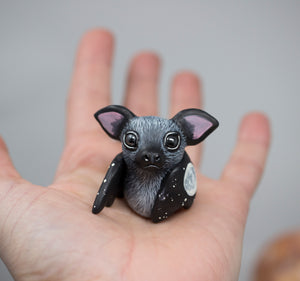 Black Bat Figurine, Moon Wing
