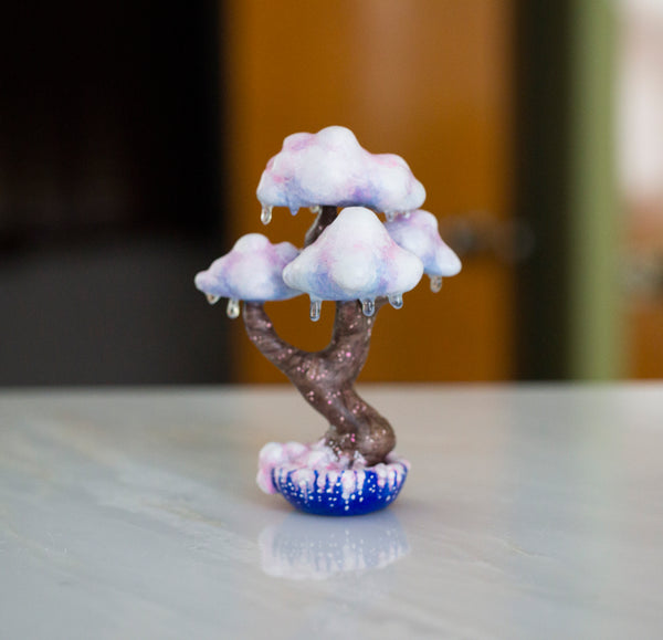 Pink Clouds Bonsai Tree Figurine