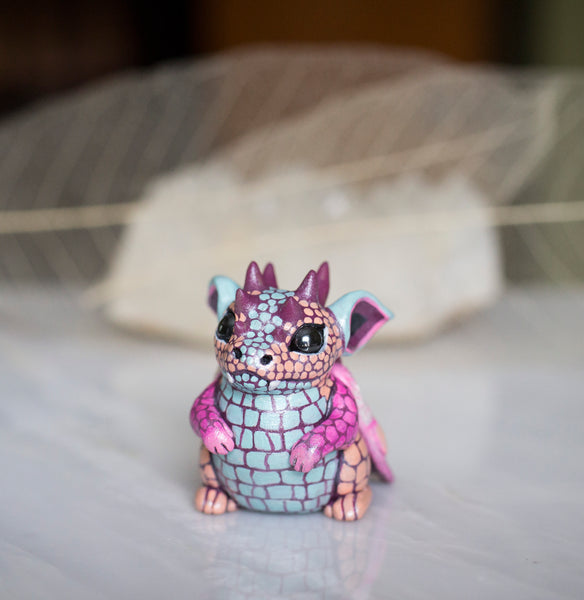 Pastel Dragon Baby Figurine