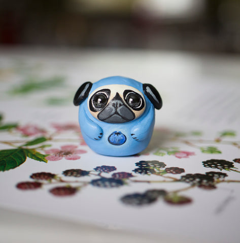Blueberry Pug Bubble Figurine