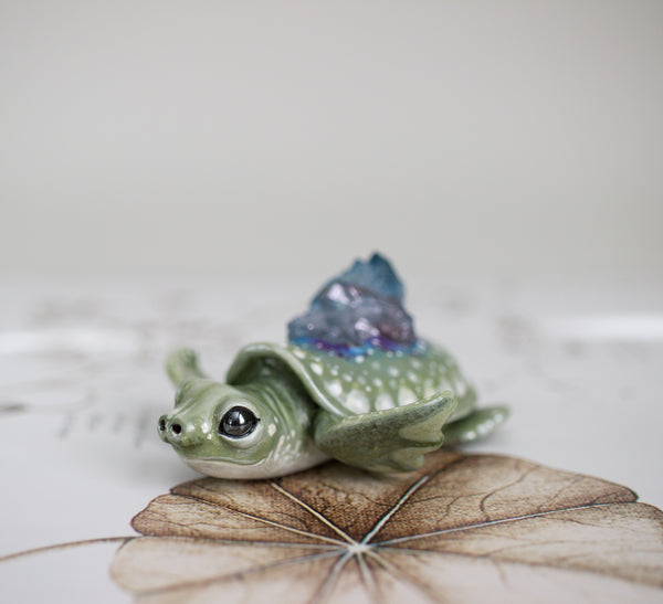 RESERVED Pig Nose Turtle Figurine