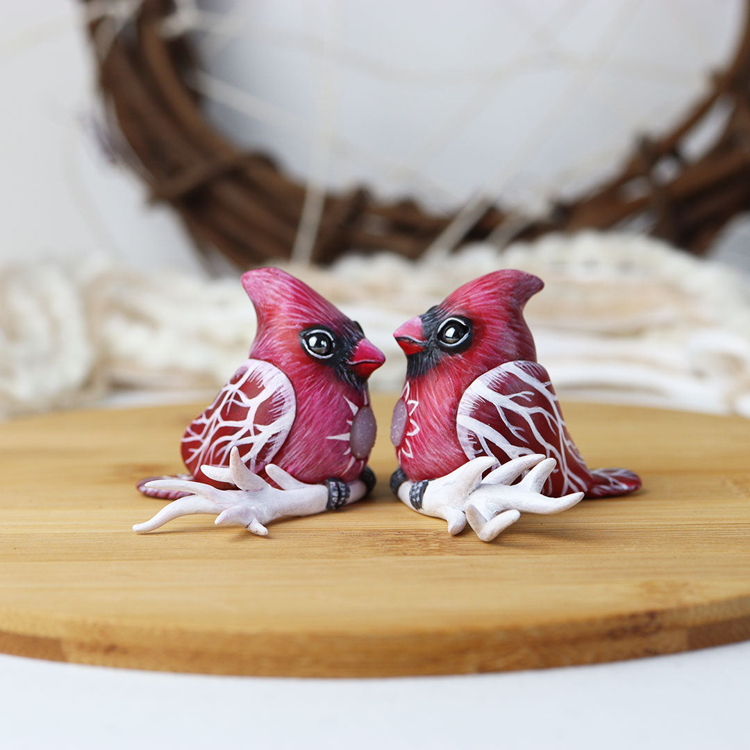 Winter Cardinal Figurine