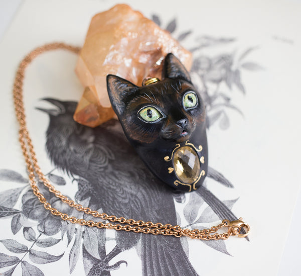 RESERVED Cat Necklace