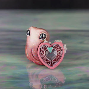 Grey Moonstone Valentine Octopus Figurine