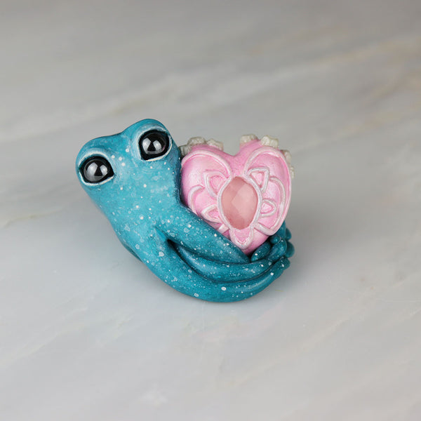 Rose Quartz Valentine Octopus Figurine